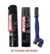 KIT PULISCI LUBRIFICA CATENA Chain Clean C1 + C3 Chain Lube OFF Road + SPAZZOLA