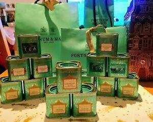 Fortnum And Mason 4 x Tea 25g Ceylon Darjeeling Orange Pekoe Afternoon Green Tea