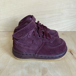 NEW Nike Air Force 1 Mid LV8 Toddler Size 4C Shoes Burgundy Crush - 859338-600