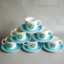 Cups & Saucers Mid-Century Modern Pottery