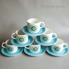 Cups & Saucers Vintage Original Mid-Century Modern Pottery