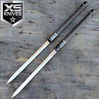 "24"" Twin INTERLOCKING Double Knife Dagger SET w/ Locking Knives Ninja FANTASY"