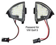VW GOLF 5 (auch GT GTI R) LED SMD Umfeldbeleuchtung Spiegel Umgebungslicht 602