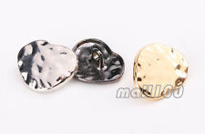 12pcs Heart Shaped Metal Shank Buttons Coat Clothes Sewing Embellishment 20mm