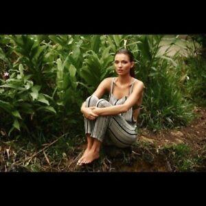 Acacia Canggu Silk Overalls in Polynesia S