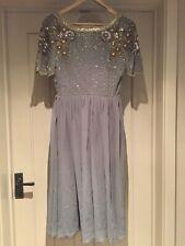 ee39e3381f BN Virgos Lounge pale grey Embellished Wedding   Party dress size 10