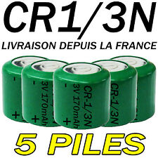 5 PILES ACCUS BOUTON CR1/3N 170mAh LITHIUM 3V 2L76 BATTERIE BATTERY