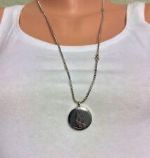 Edelstahl Medaillon 25mm, Edelstahlkette 67cm, Parfüm-Medaillon, Geschenkset