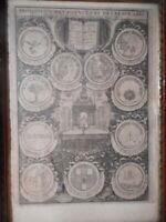 Grabado Antigua 17 18 Siglo Academie Ciencia Bellas Arts Biblioteca Royal