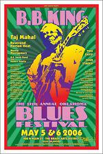 B. B. KING & TAJ MAHAL Blues Festival Original 2006 Signed Tulsa Concert Poster