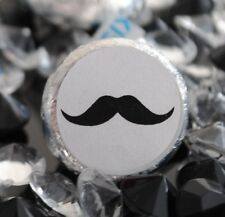 108 Mustache Hershey Kiss Labels Stickers Baby Shower Favors