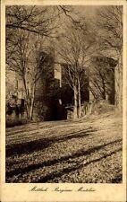 Mettlach Saarland Postkarte ~1920/30 Partie an der Burgruine Montclair Bäume