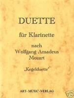 KLARINETTE 14  DUETTE NACH W.A.MOZART ( NOTEN )