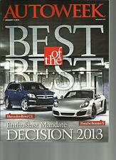 AUTO WEEK, JANUARY, 2013 ( BEST OF THE BEST ) ENTHUSIAST MANDATE  DECISION 2013
