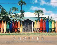 Surfing Motivational Poster Art Print Sports Surfboards Beach House Wall Decor