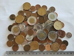 Lot Of 97 Canada Coins Various Dates And Denominations
