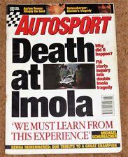 Autosport 5/5/94* AYRTON SENNA TRIBUTE - IMOLA GP - SILVERSTONE F3000 & F3