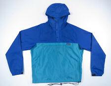 NWOT Vintage Patagonia 1/3 Zip Snap Hooded Pullover Anorak Windbreaker Jacket L