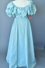 1980s Teal Couture Gown- Nwt Vintage Women Dress - Fabulous