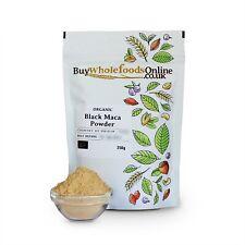 ORGANIC Black Maca Poudre 250 g | Acheter Whole Foods En Ligne | Gratuit UK p&p