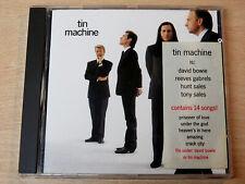 Tin Machine/Self Titled/1989 CD Album/Stickered/David Bowie/Reeves Gabrels