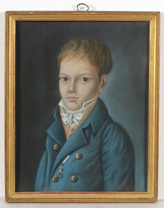 """""""Prince Ferdinand Philippe d'Orleans aged 10/12"""", pastel portrait, 1820/22"""