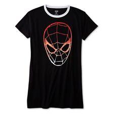 Womens Spiderman Sleep Shirt Nightgown Pajamas Size S,Medium,Large,XL Marvel NEW