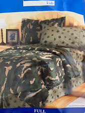 New Home Trends Full Size Bed Skirt Only Camo Army Corps Green drop Dust Ruffle