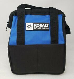 Kobalt 24V Max Heavy Duty Zippered Tool Bag with Pockets 12x6x12 NEW