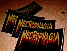 """NECROPHAGIA STICKER LOT  PHIL ANSELMO (30) from """"Harvesting the Dead"""" tour 2005"""