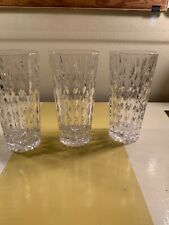 3 Crystal Highball Drinkware Glass Set Tall Drinking High Drink Glasses Vertical