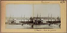 Bordeaux 2 stéréos collées sur le même carton Vintage Citrate ca 1900
