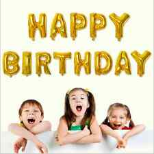 "13Pcs Letter Aluminum Foil Helium Balloons Party HAPPY Birthday Decoration 16"""