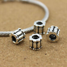 10pc/lot 4mm Hole Antique Silver Stopper Screw Lock Beads Fit European Bracelet
