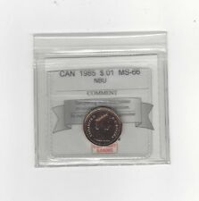 **1985**Coin Mart Graded Canadian Small One Cent, **MS-66 NBU**