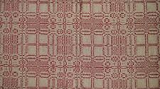 """The Wagon Wheel Cranberry Tan Fabric Table Runner 14"""" x 56"""" Primitive Accent"""