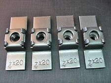 4 pcs 1/4-20 weld in steel cage nuts retaining floating weld nut fits dodge