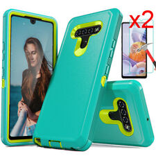 For LG Stylo 6/5/5 Plus Case Heavy Duty Armor Hard Phone Cover HD Tempered Glass
