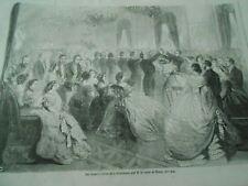 Gravure 1861 - Bal donné à l'hotel de la Présidence Le Comte de Morny