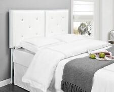 Kings Brand Furniture White Metal Full Size Tufted Design Upholstered Headboard