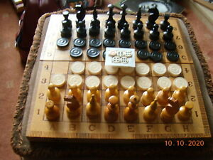 SUPERB WOODEN  CHESS  and  BACK GOMMON-Box is  BOARD