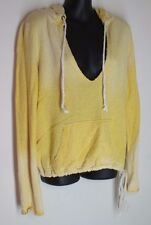 SMALL Victoria's Secret Plush & Lush yellow terry long sleeve pullover hoodie