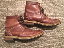 Mens Clarks Brown Brogue Boot Size 9