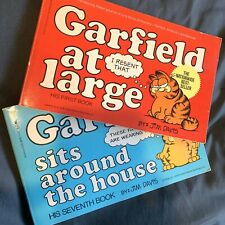 Vintage Jim Davis Garfield Books Garfield At Large, Sits Around The House