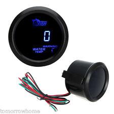 52mm Digital Blue LED Water Temperature Celsius Meter Gauge + Sensor Car Black