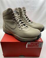 Nike Manoadome Khaki Tan Grey Mens Size 8 Hiking Trail Work Boots 844358-200 NEW