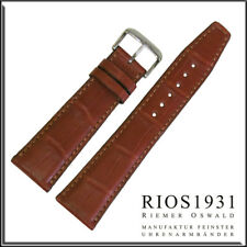 22x18 mm RIOS1931 for Panatime - Cognac Spitfire - Alligator Watch Band For IWC