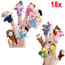 18x Finger Puppets Doll Baby Educational Hand Cartoon Animal Family Toys Supply