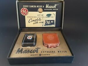 Vintage General Electric Mascot Exposure Meter New In Box USA Never Used