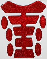 Metal Flake Red Resin Domed Resin Tank Pad K1 + 6 Oval Pad Protectors